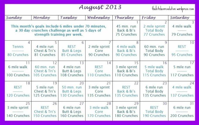 aug calendar 2013