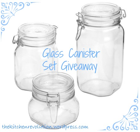 Glass Canister Giveaway