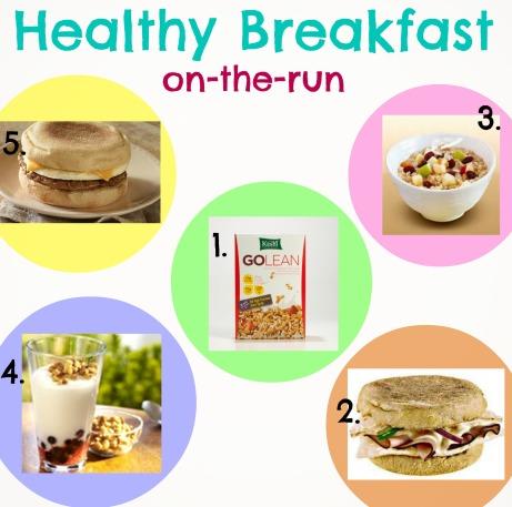 healthy breakfast on the run