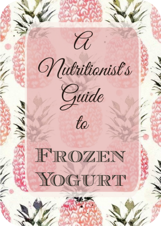 Frozen Yogurt Guide