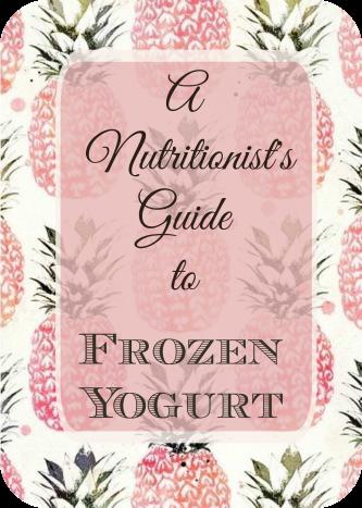 Frozen Yogurt Guide